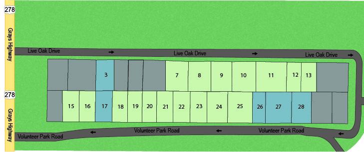 Mossy Oaks Single Family Homes Map