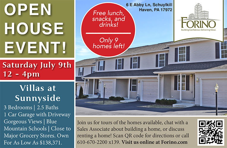 Villas at Sunnyside Open House July 9th 12-4pm